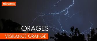 Alerte météo : Passage en vigilance orange à 16h Orages