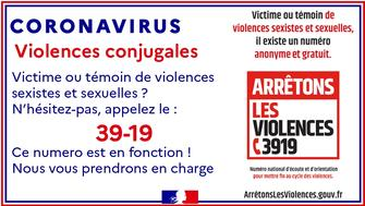 Covid-19 - Confinement - femmes victimes de violences