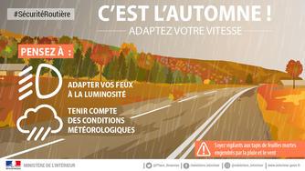 Sécurité routière : attention au changement d'heure et à la baisse de luminosité