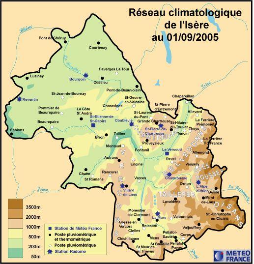Réseau climatologique de l'Isère / Climat - Air - Transition énergétique / Atlas / Observatoire ...