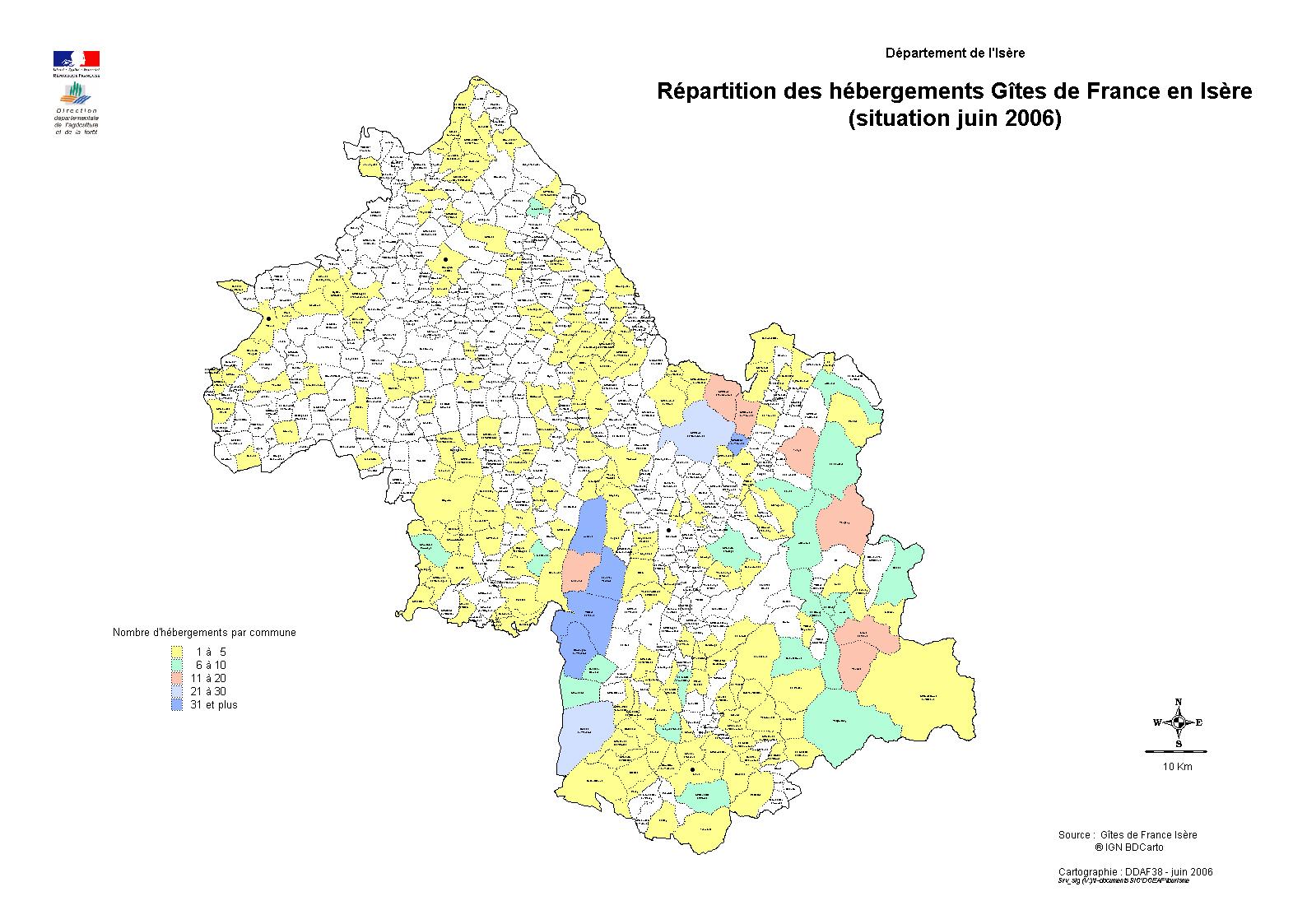 Répartition des hébergements gîtes de France / Hébergement / Tourisme / Atlas / Observatoire des ...