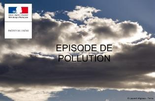 Épisode de pollution de l'air de type estival en Isère - Bassin d'air grenoblois - Niveau N1