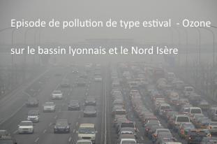 Épisode de pollution de type estival - Ozone (O3)