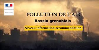 Pollution de l'air aux particules fines- bassin d'air grenoblois - Niveau information-recommandation